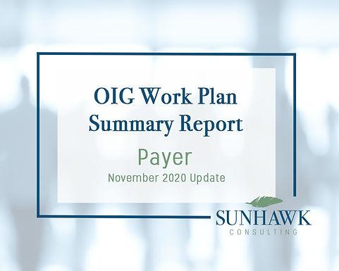 November 2020 Update: SunHawk's Payer Focused OIG Work Plan