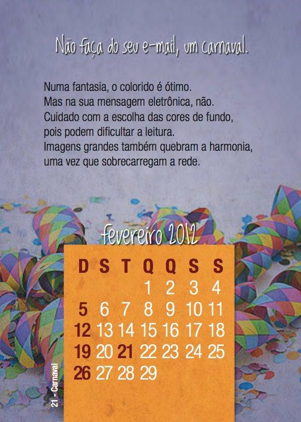 Calendário Ericsson