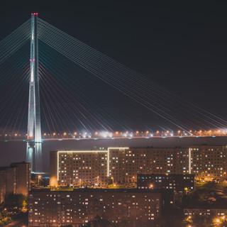 Владивосток, мост на остров Русский