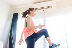 Video streaming Stay home.home fitness w