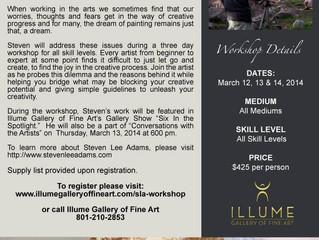 Illume Gallery Weekend Workshop in Salt Lake City