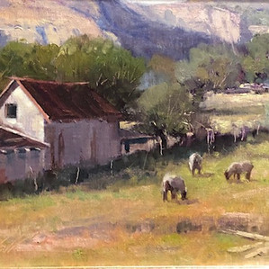 "Stephen Stauffer  ""Three sheeps in the wind"""