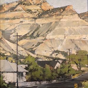 """Joseph Allemann """"Blue sky w/ cliffs"""""""