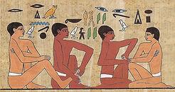 Reflexology shown on Egyptian Tomb