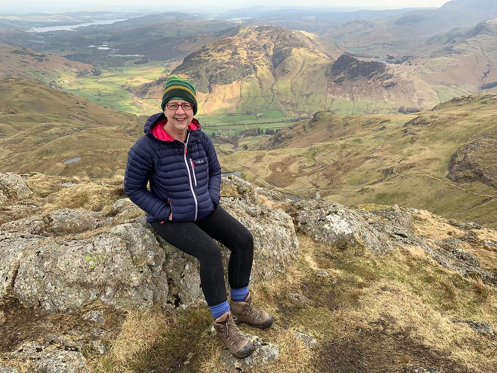Jan Johnson, Reflexologist in Congleton, Pavey Ark, Great Langdale, Lake District, Hiking, Mountain climbing