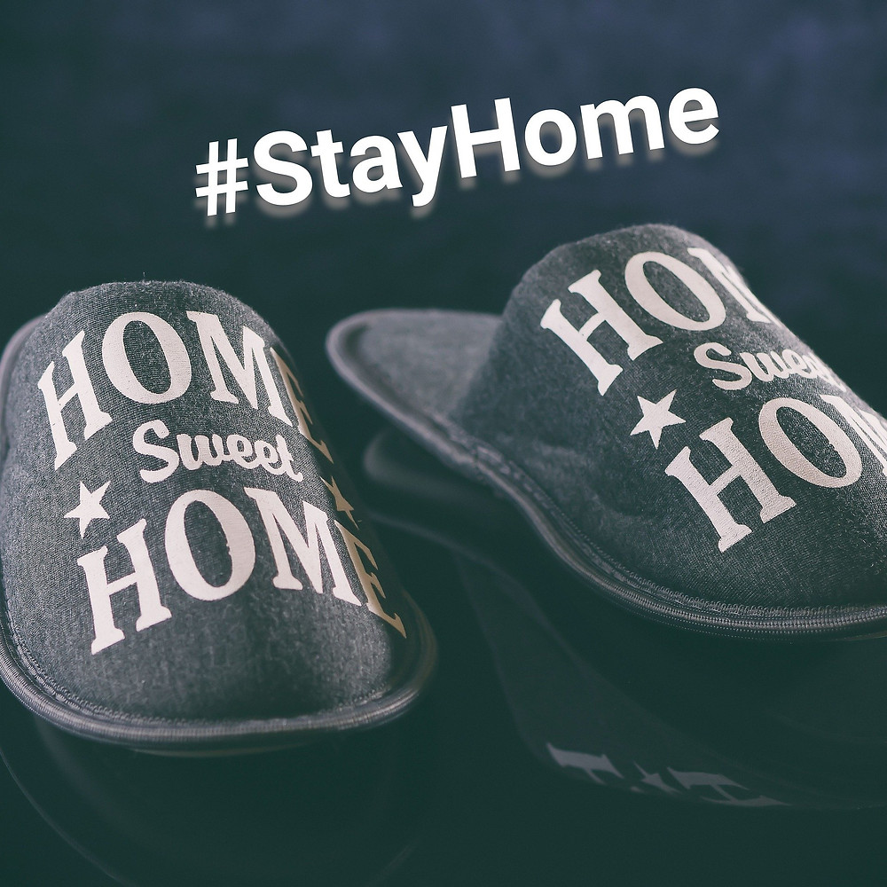 Home Sweet Home slippers with #stayhome