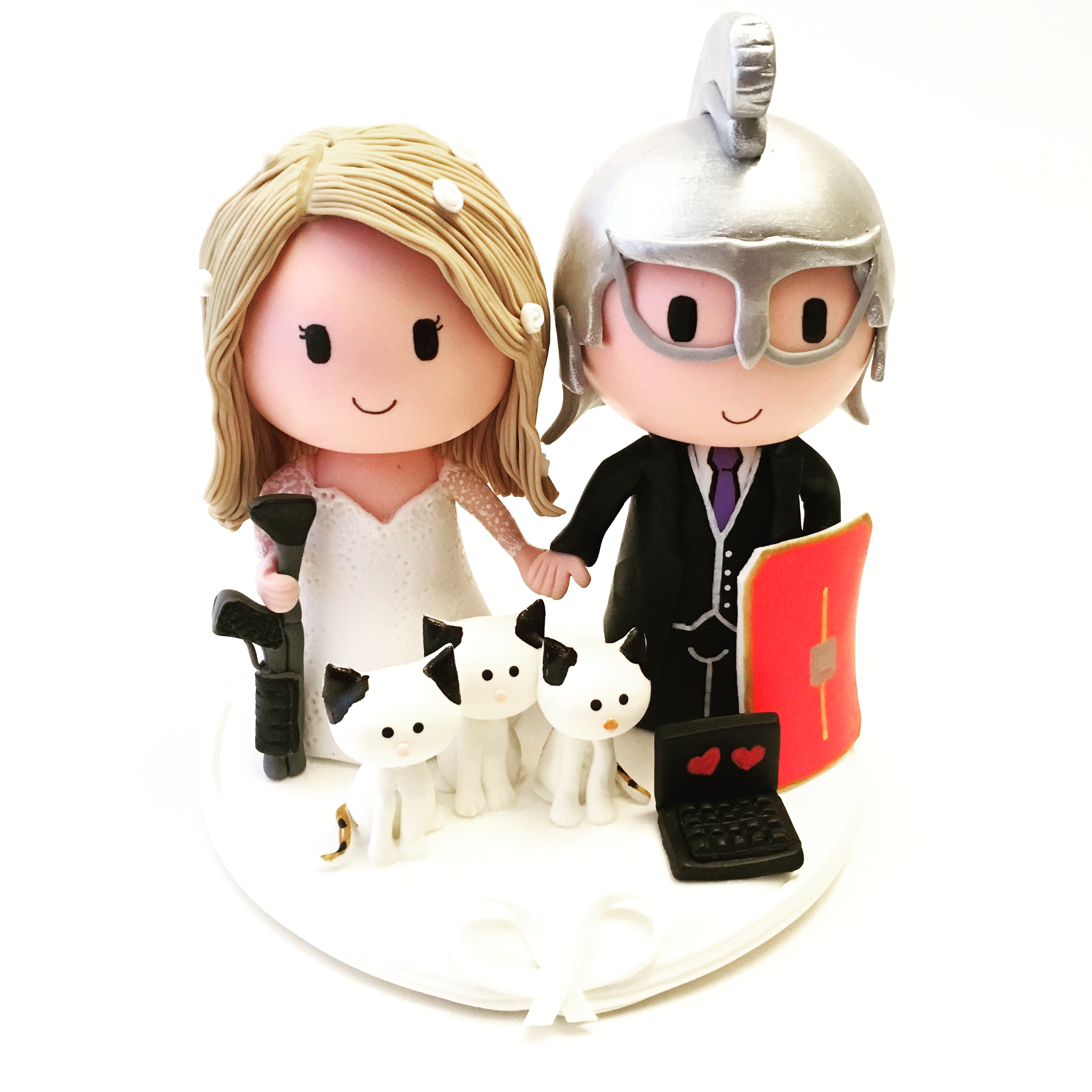 wedding cake topper roman and police