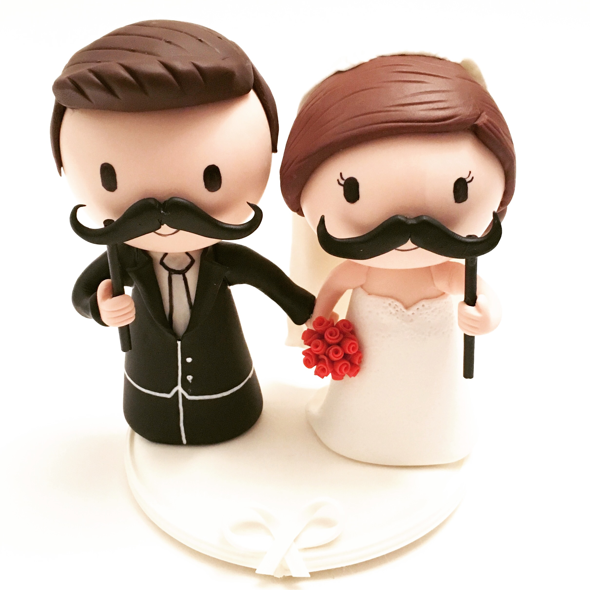 wedding cake topper mustache