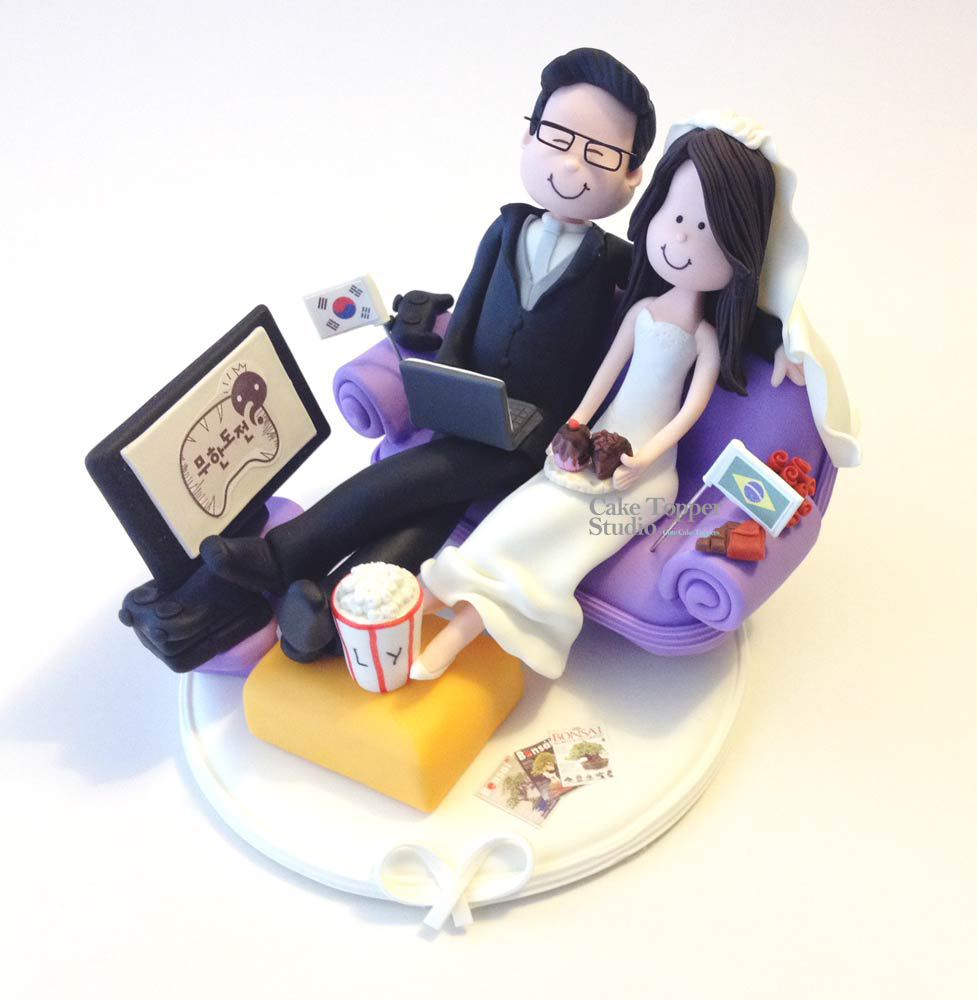 wedding cake topper tv