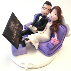 wedding cake topper tv game of thron