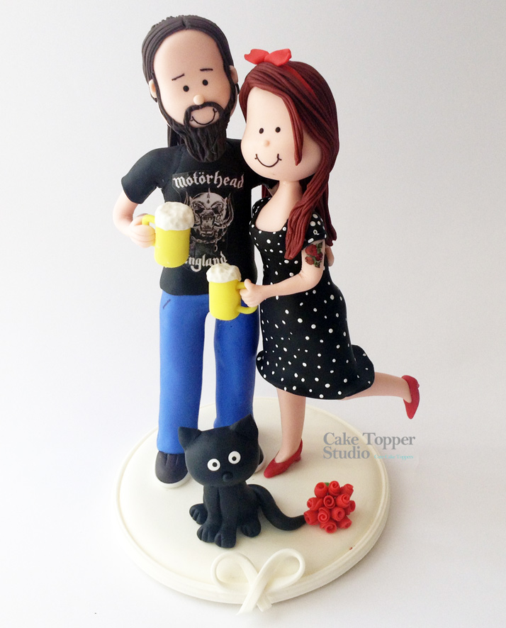 wedding-cake-topper-rockers-style