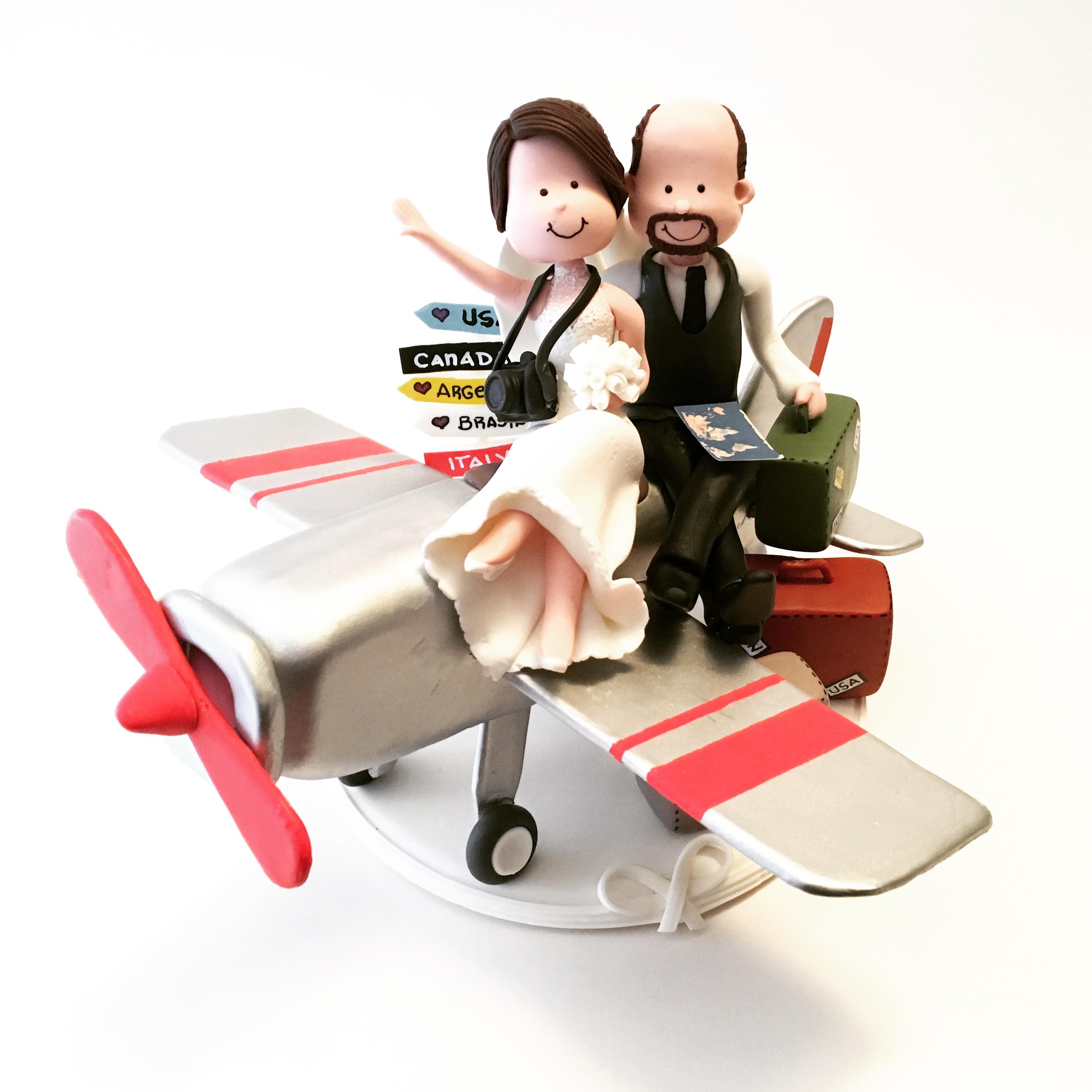 wedding-cake-topper-airplane-travel-vintage-2