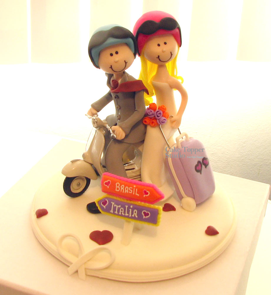 wedding-cake-topper-funny-scooter-travel