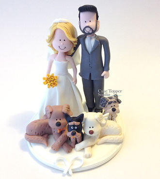 Wedding Cake Topper Funny Dog Pets