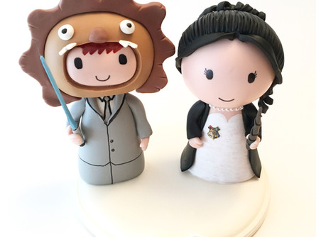 Cute Wedding cake topper !