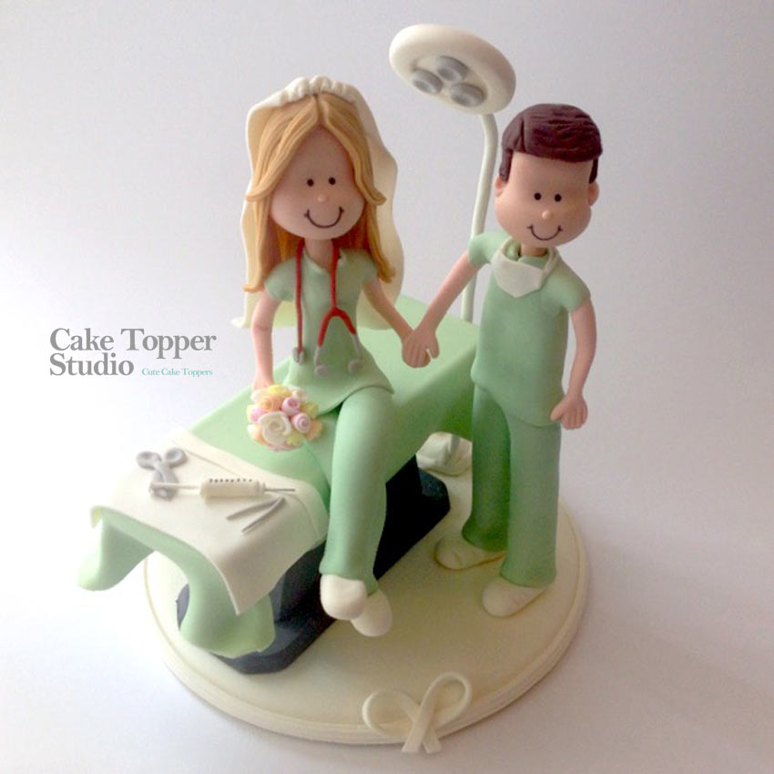 Wedding Cake Topper  Doctors