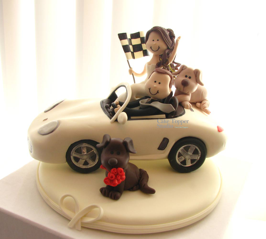 cake-wedding-topper-car-porsche