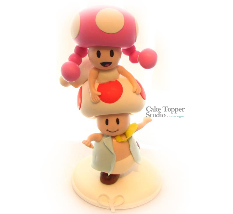 Toad and Toadette wedding cake toppe