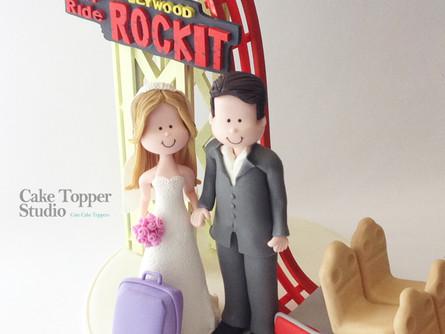 Rip ride rockit funny wedding cake topper.