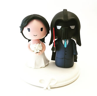 Cake topper studio geek custom wedding cake topper wedding cake topper star wars 3 darthvader junglespirit Images