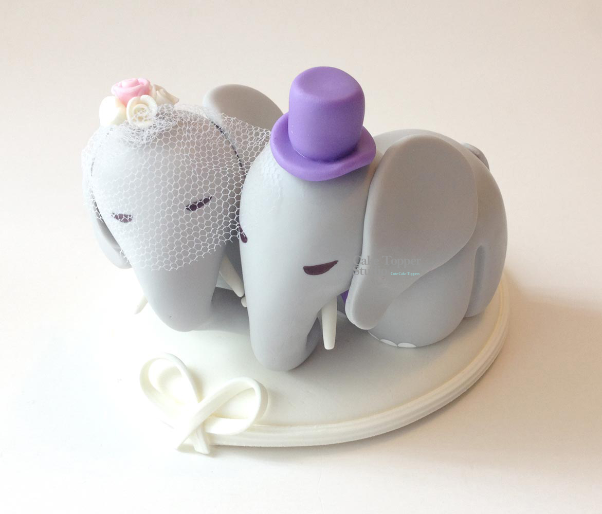 wedding-cake-topper-funny-elephant-animal