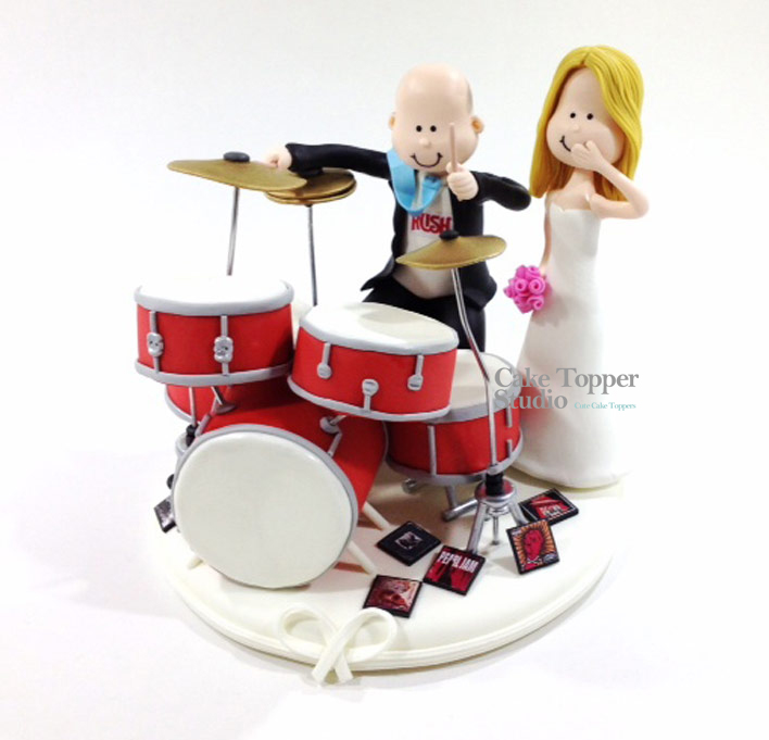 wedding-cake-topper-funny-drummer