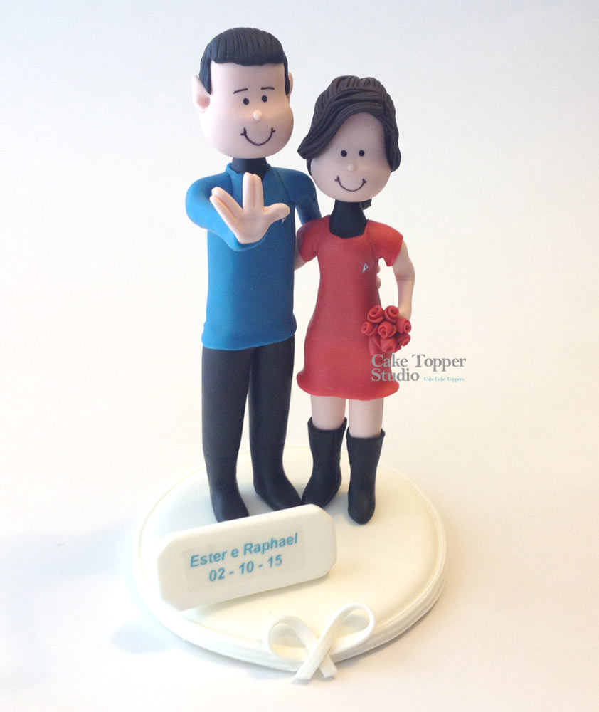 wedding cake topper star trek theme