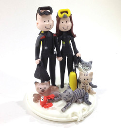 wedding-cake-topper-funny-scuba-diving-cats