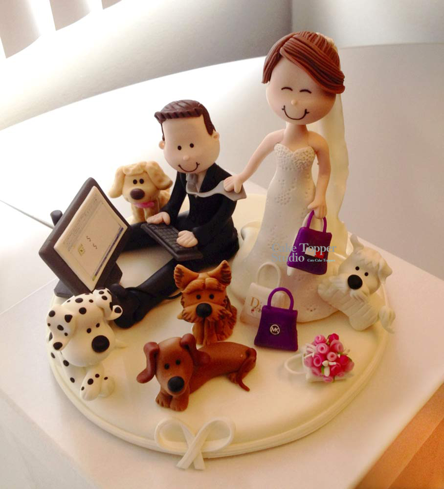 wedding-cake-topper-funny-laptop-pets