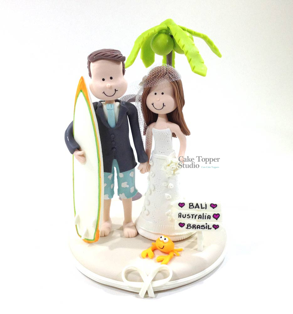 wedding-cake-topper-funny-beach-travel-surf