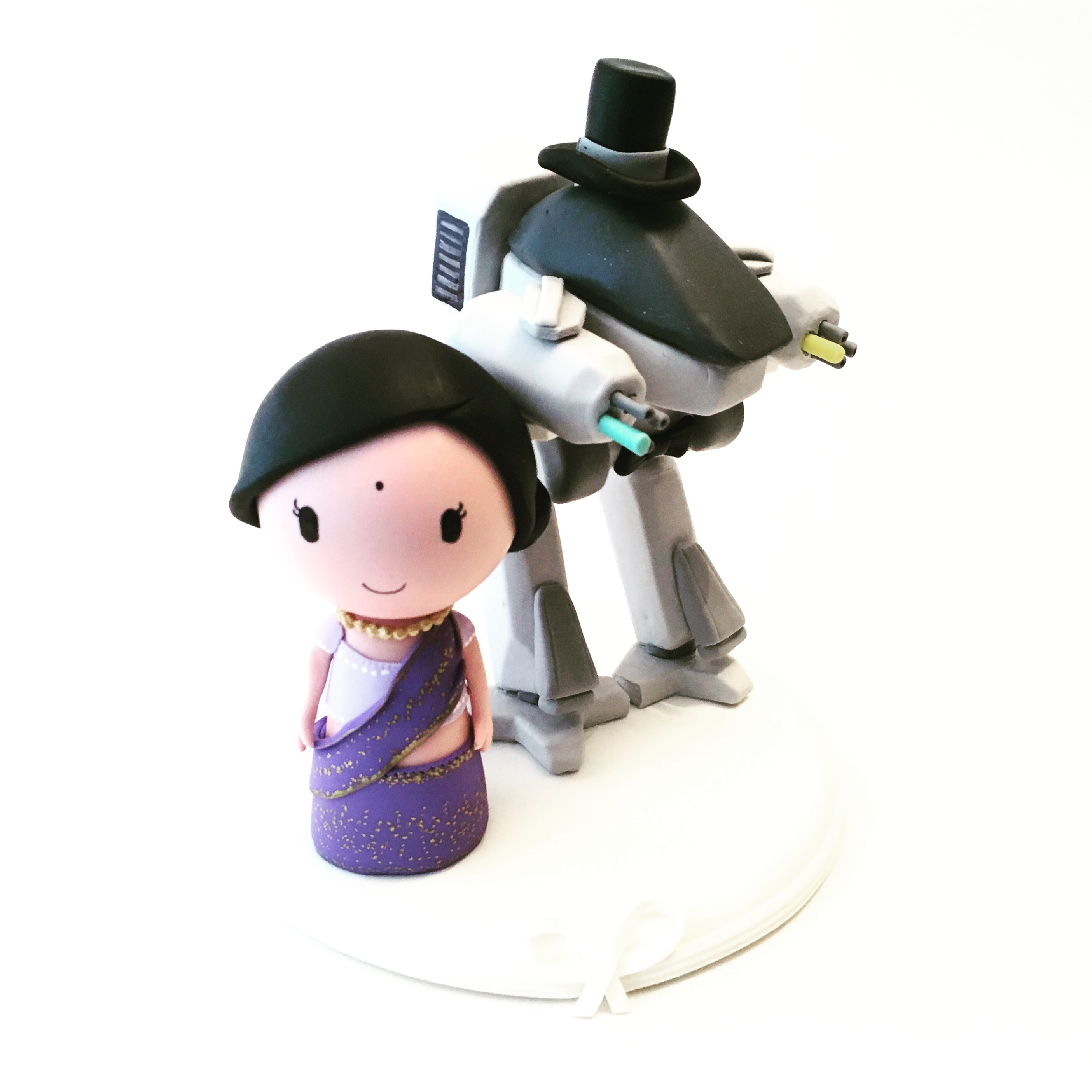 wedding-cake-topper-geek-theme-3