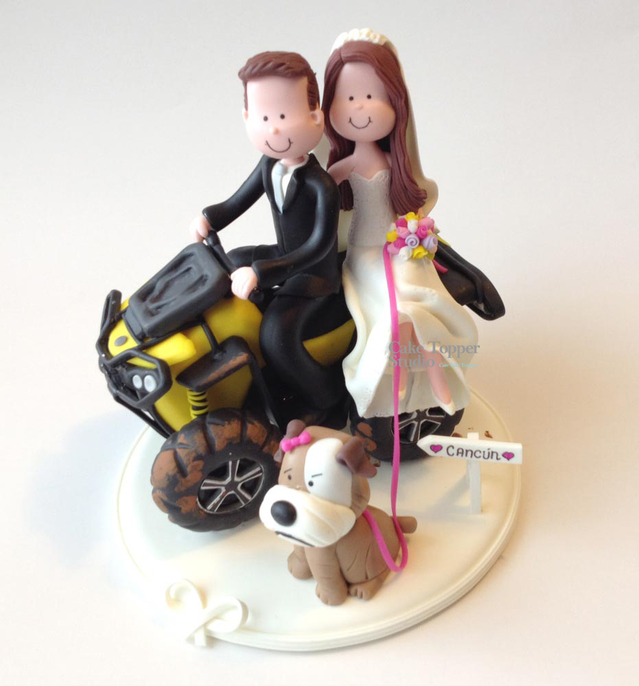 wedding cake topper funny atv