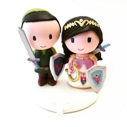 wedding cake topper zelda legend 3