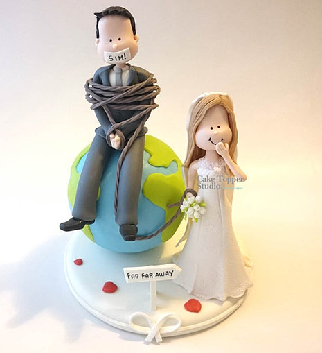 wedding cake funny toppers cake topper studio travel best custom wedding cake topper 22754