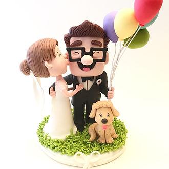 Cake topper studio geek custom wedding cake topper junglespirit Image collections