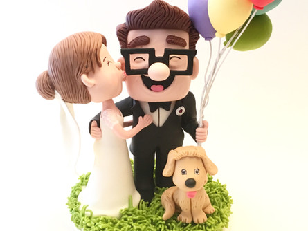 Funny Up Wedding Cake Topper