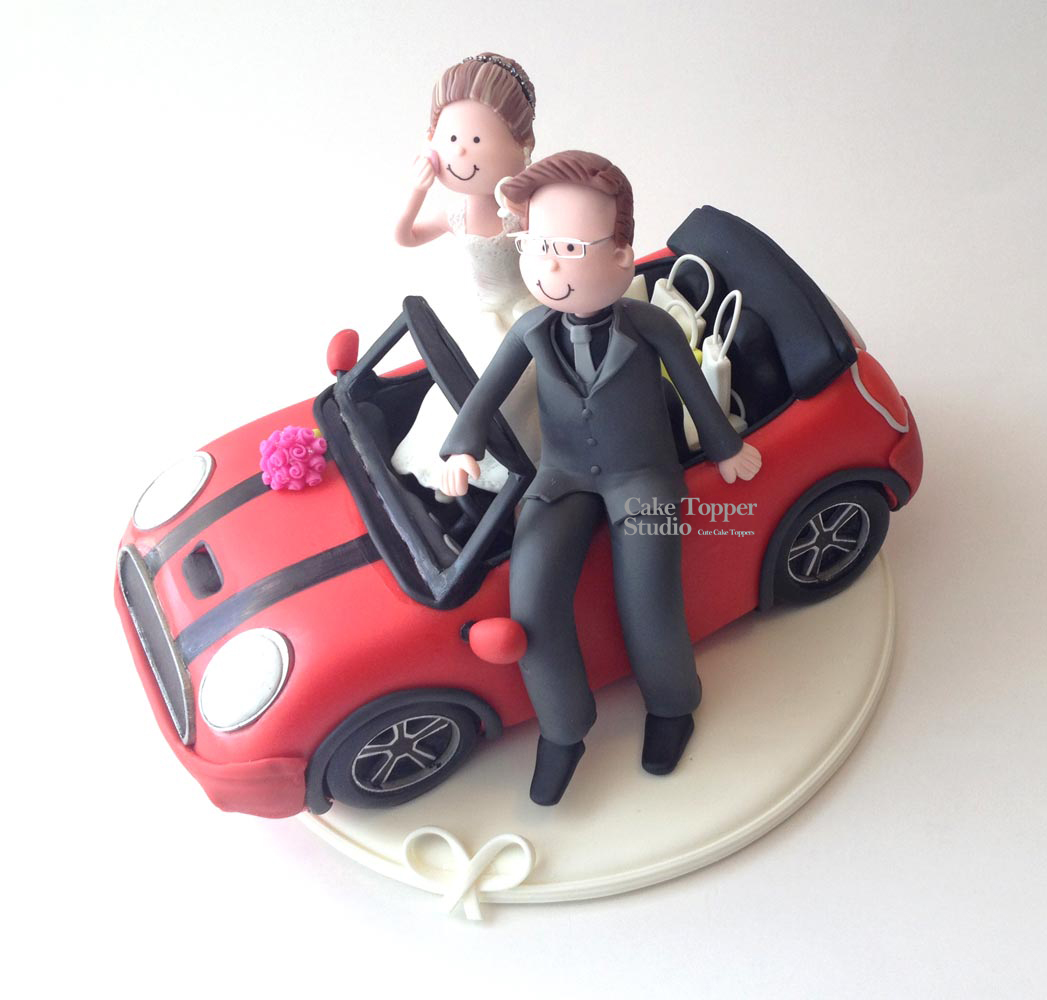wedding-cake-topper-funny-car-minicooper