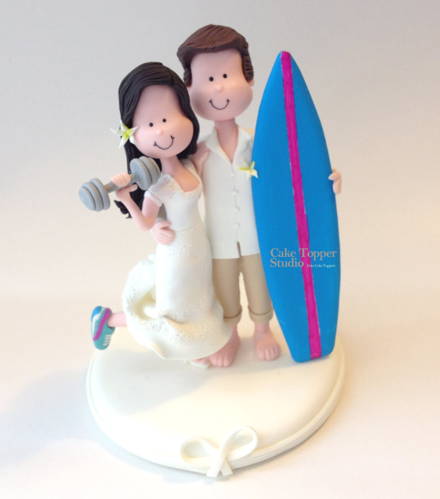 Sport wedding cake topper themes