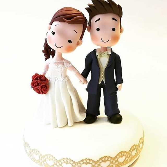 New cute wedding cake topper