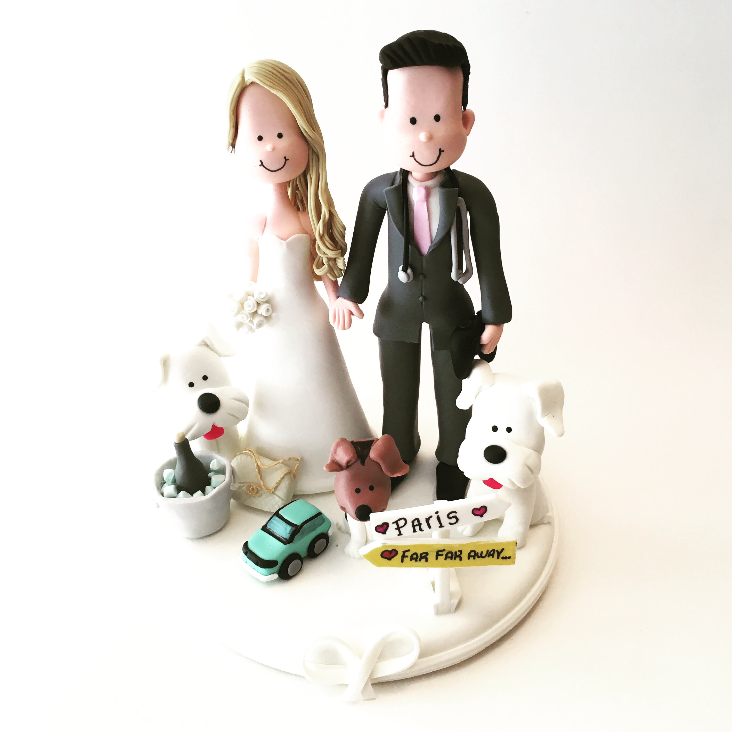 wedding-cake-topper-dogs-doctor