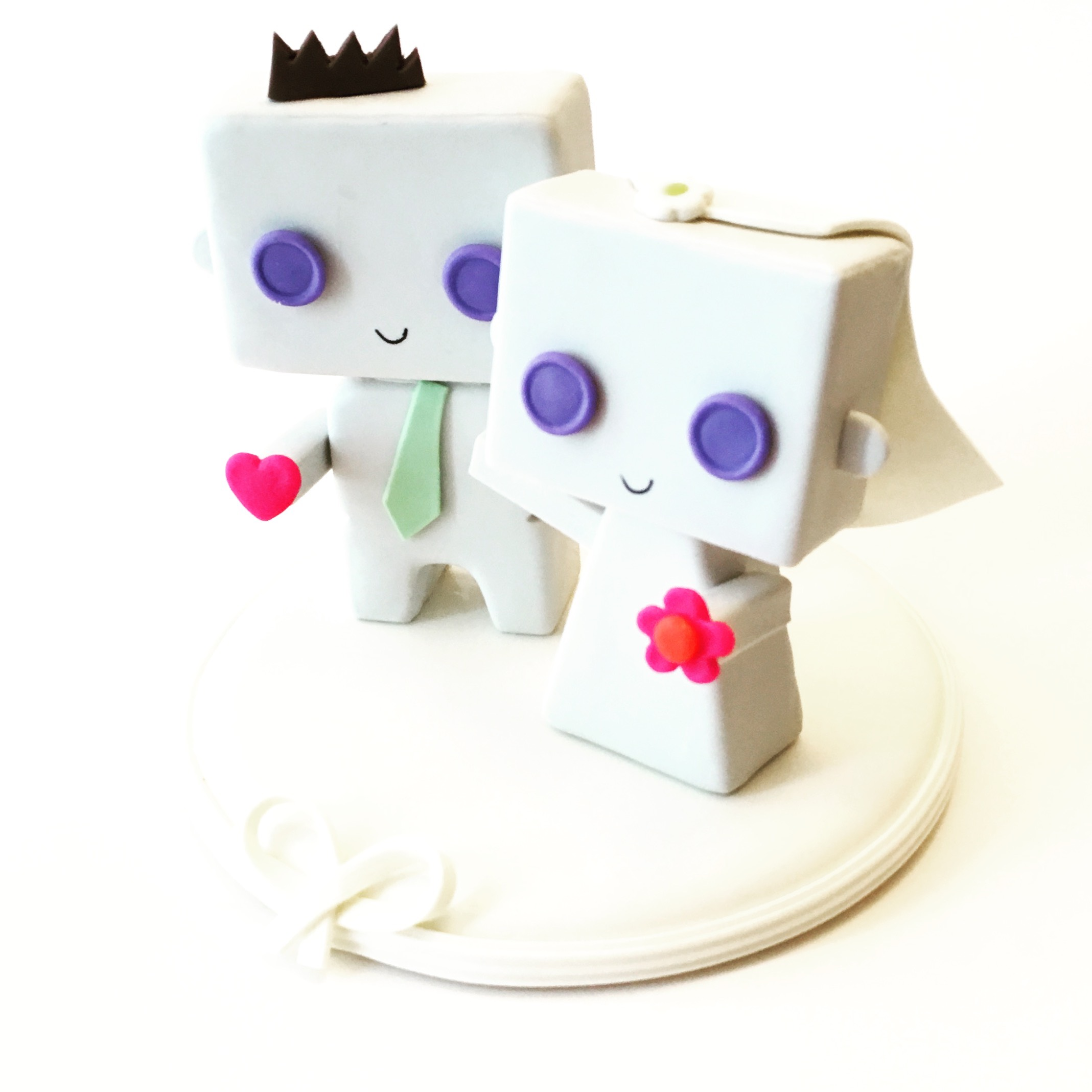 Cute Box Wedding Cake Topper