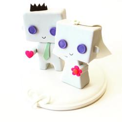 Cute Box Wedding Cake Topper