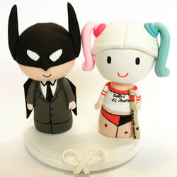 wedding cake topper-batman quinn