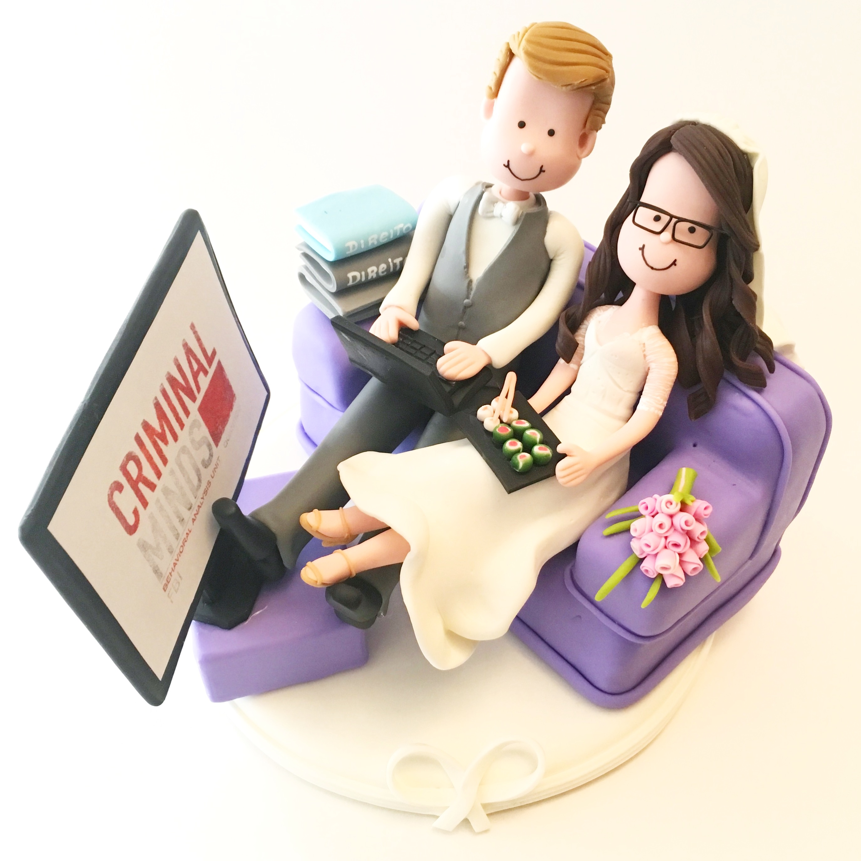 wedding cake topper sushi   and tv