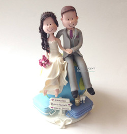 wedding cake topper funny travel