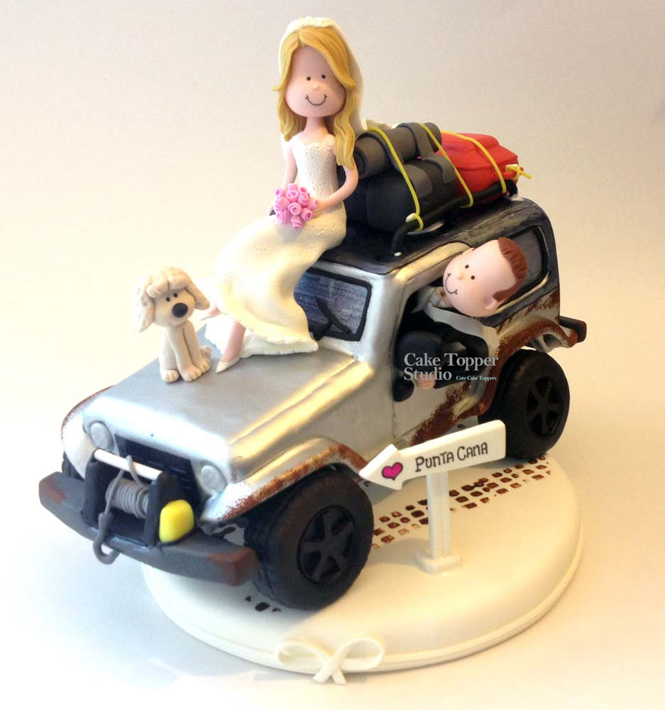 wedding-cake-topper-funny-of-road