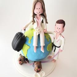 wedding-cake-topper-globe-judo-travel