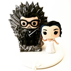 wedding cake topper game of thrones