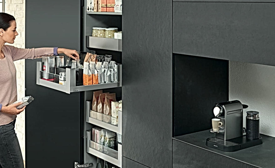 Blum Space Towers. The best in kitchen storage