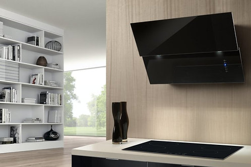 Vivaldi Wall Hood Black Glass 800 Wide